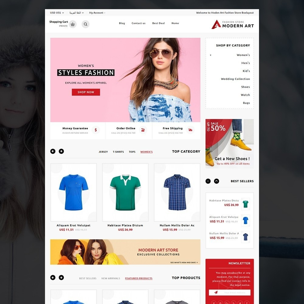 theme - Мода и обувь - Modern Art Fashion store - 9