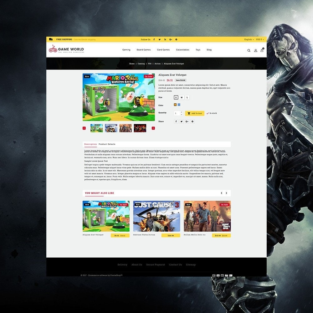 theme - Desporto, Actividades & Viagens - Game World Online Store - 4