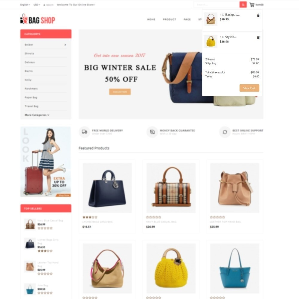 theme - Fashion & Shoes - Bag Store - 8