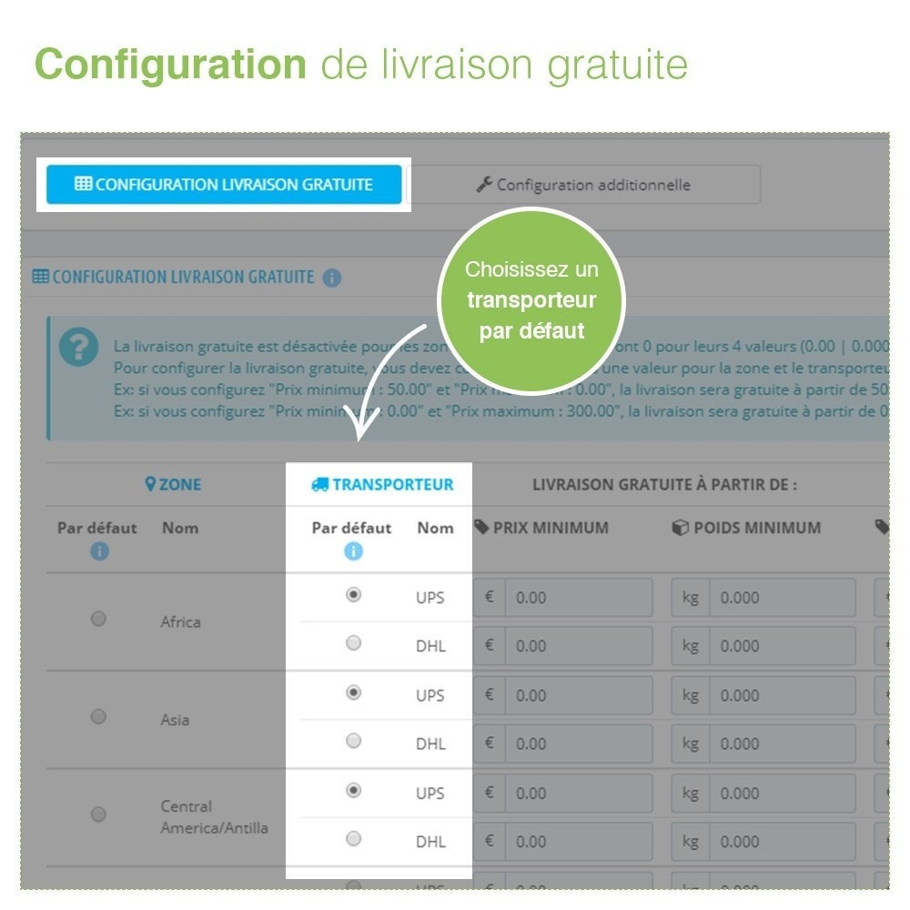 module - Frais de port - Livraison Gratuite par Zone/Transporteur- Frais de Port - 3