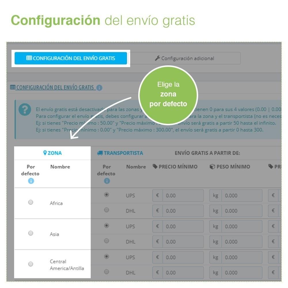 module - Gastos de transporte - Envío Gratis por Zona, Transportista, Peso y Precio - 2