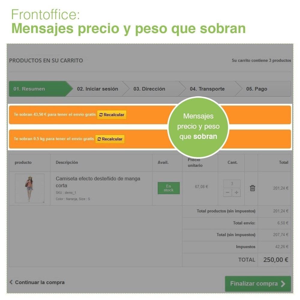 module - Gastos de transporte - Envío Gratis por Zona, Transportista, Peso y Precio - 8