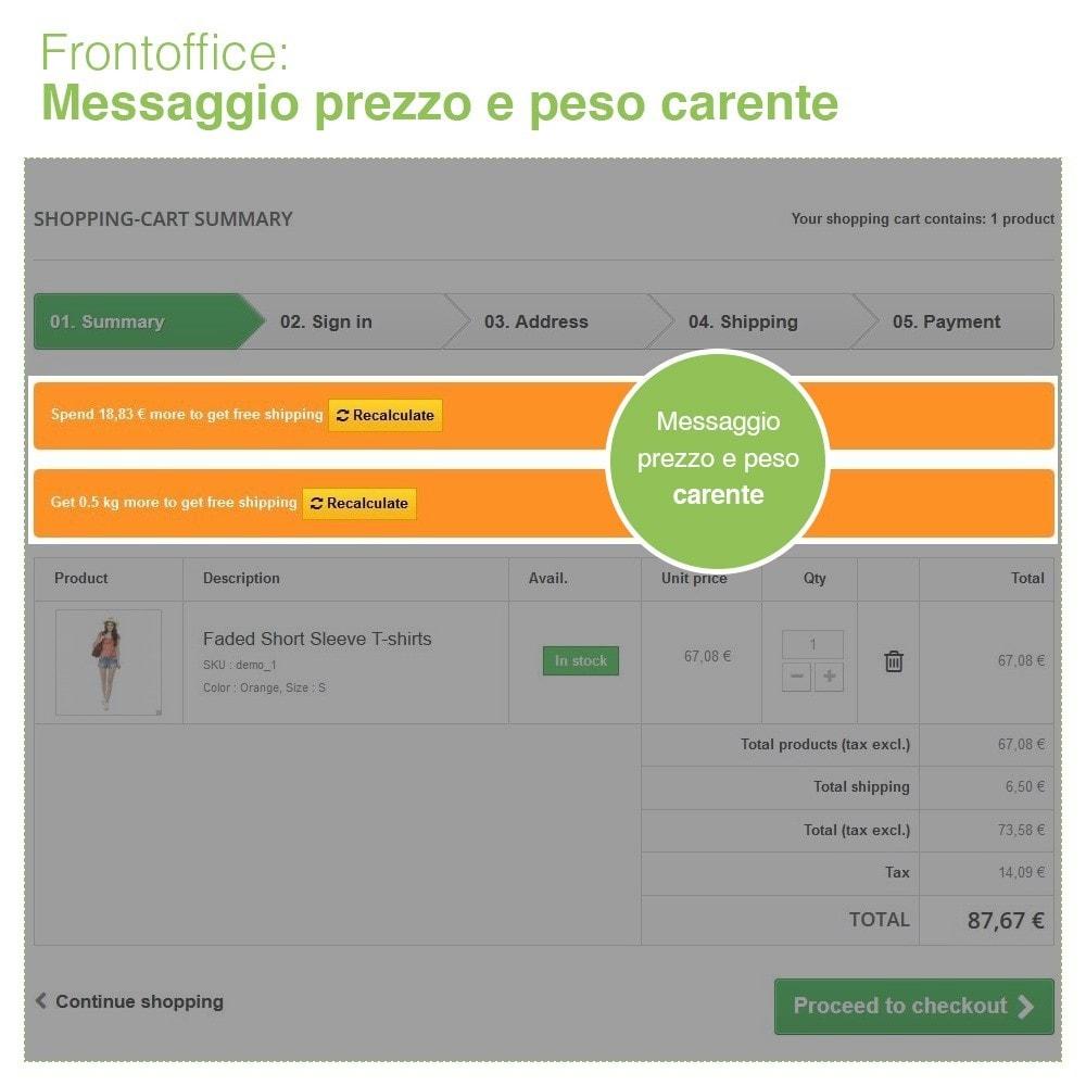 module - Spese di Spedizione - Invio Gratuito per Zona, Corriere, Peso e Prezzo - 7