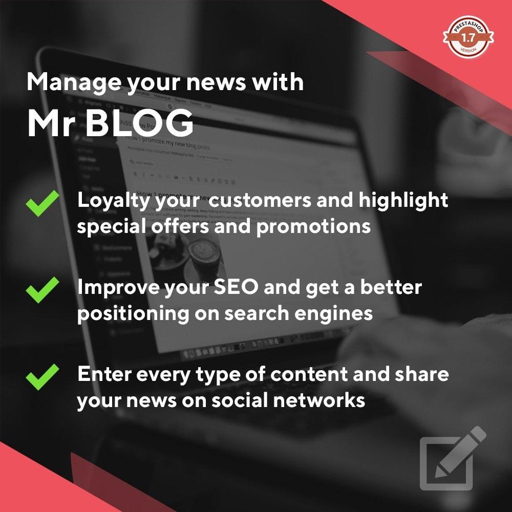 module - Блог, форумов и новостей - Mr Blog - 1