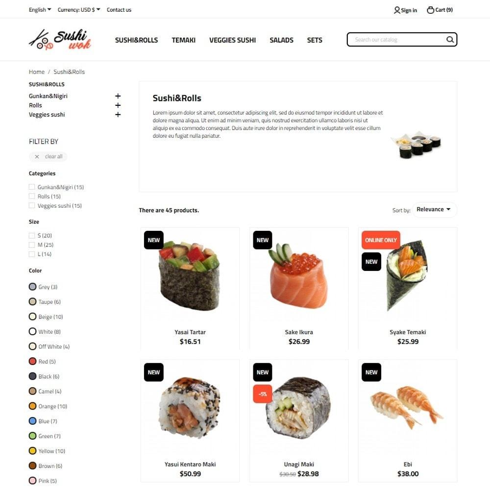 theme - Food & Restaurant - Sushi Wok - 5