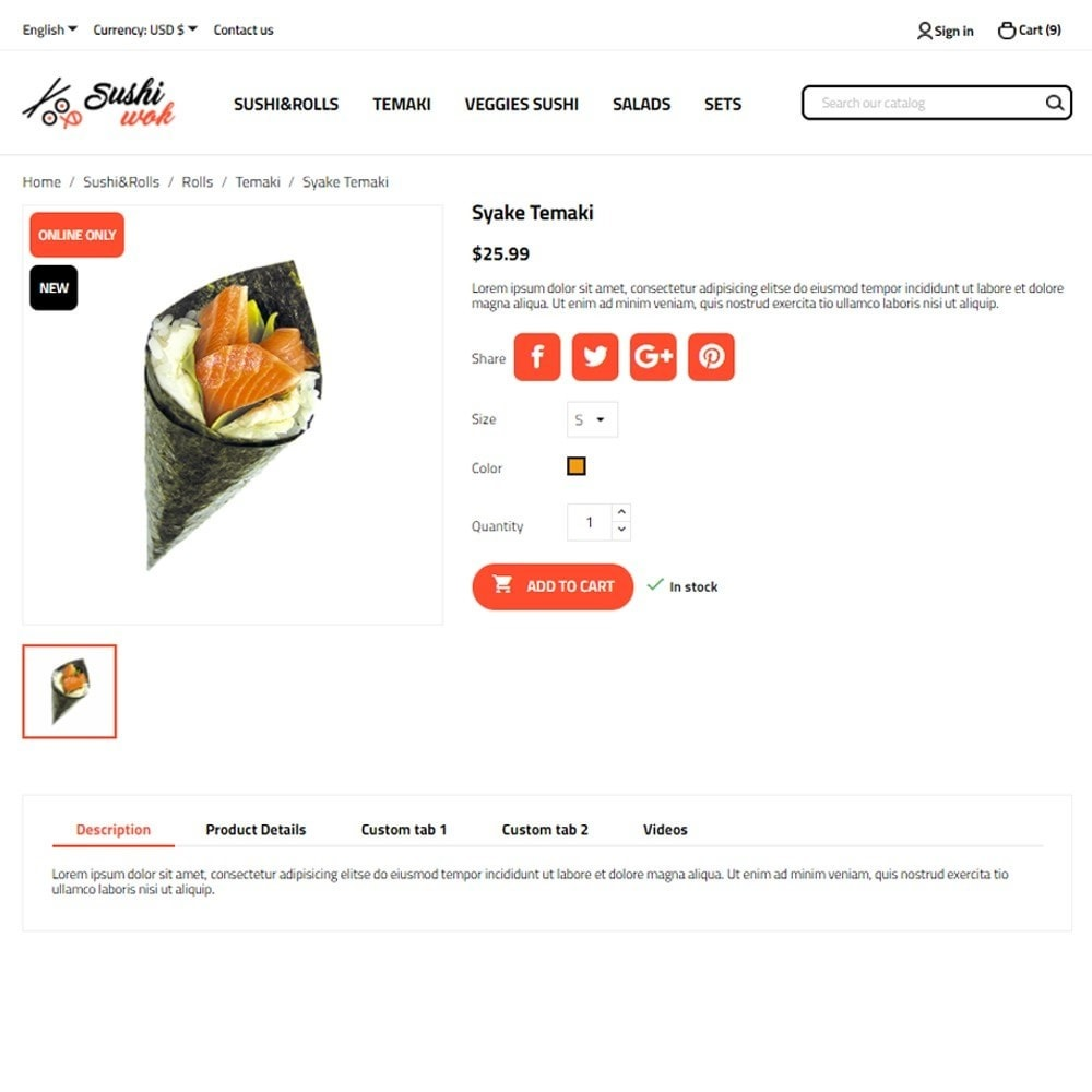 theme - Lebensmittel & Restaurants - Sushi Wok - 6
