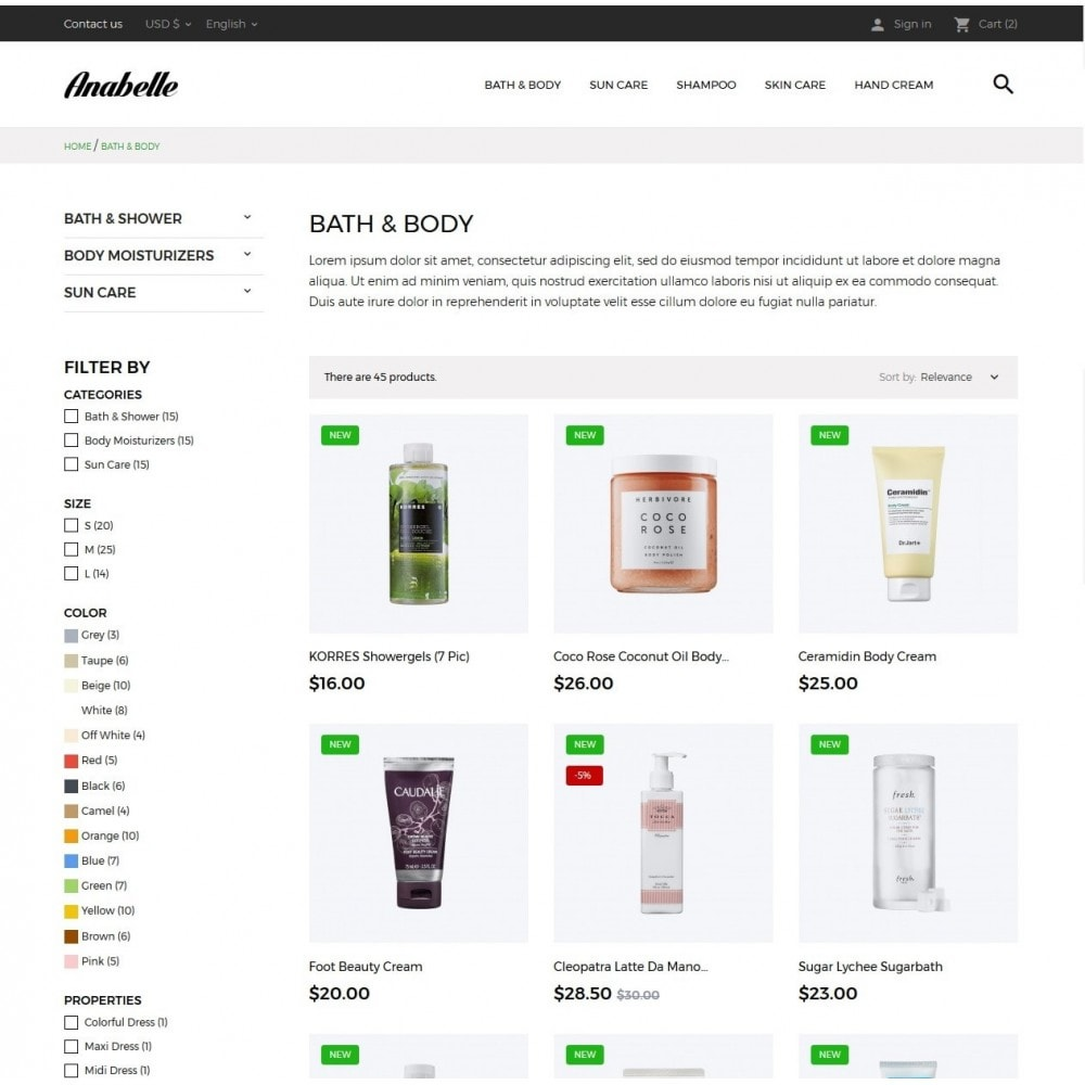 theme - Salute & Bellezza - Anabelle Cosmetics - 5