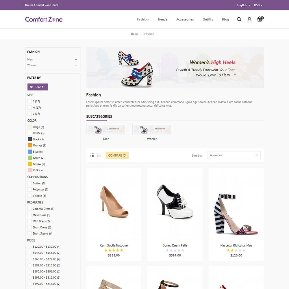 theme - Мода и обувь - Comfort Zone Shoes Store - 3