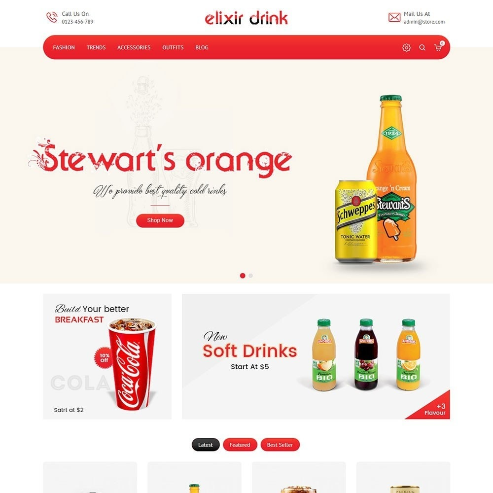 theme - Drink & Tobacco - Elixir Drink Store - 2