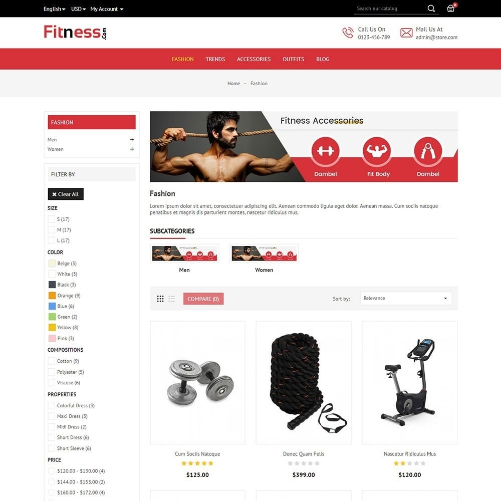 theme - Sport, Loisirs & Voyage - Fitness Store - 4