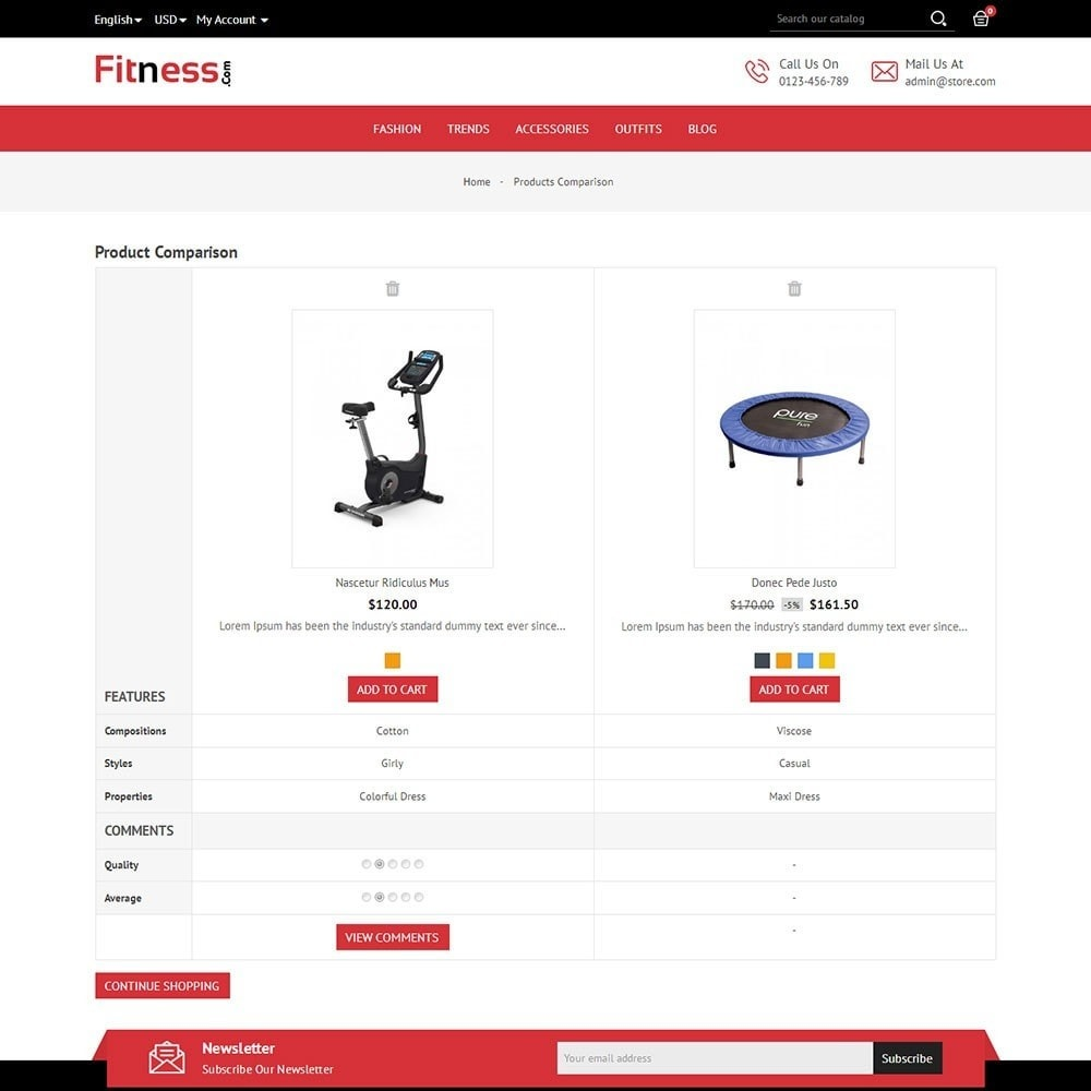 theme - Sports, Activities & Travel - Fitness Store - 7