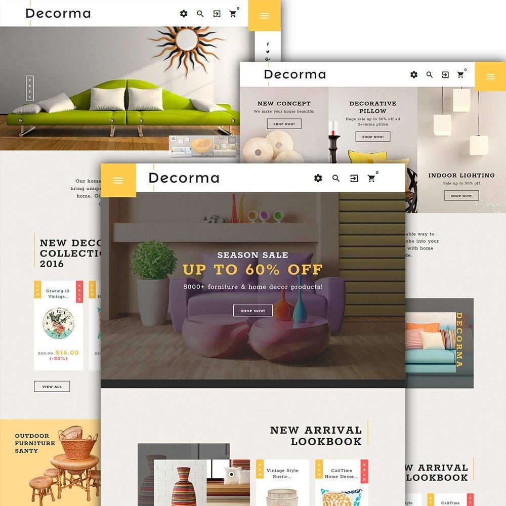 Decorma - шаблон домашнего декора