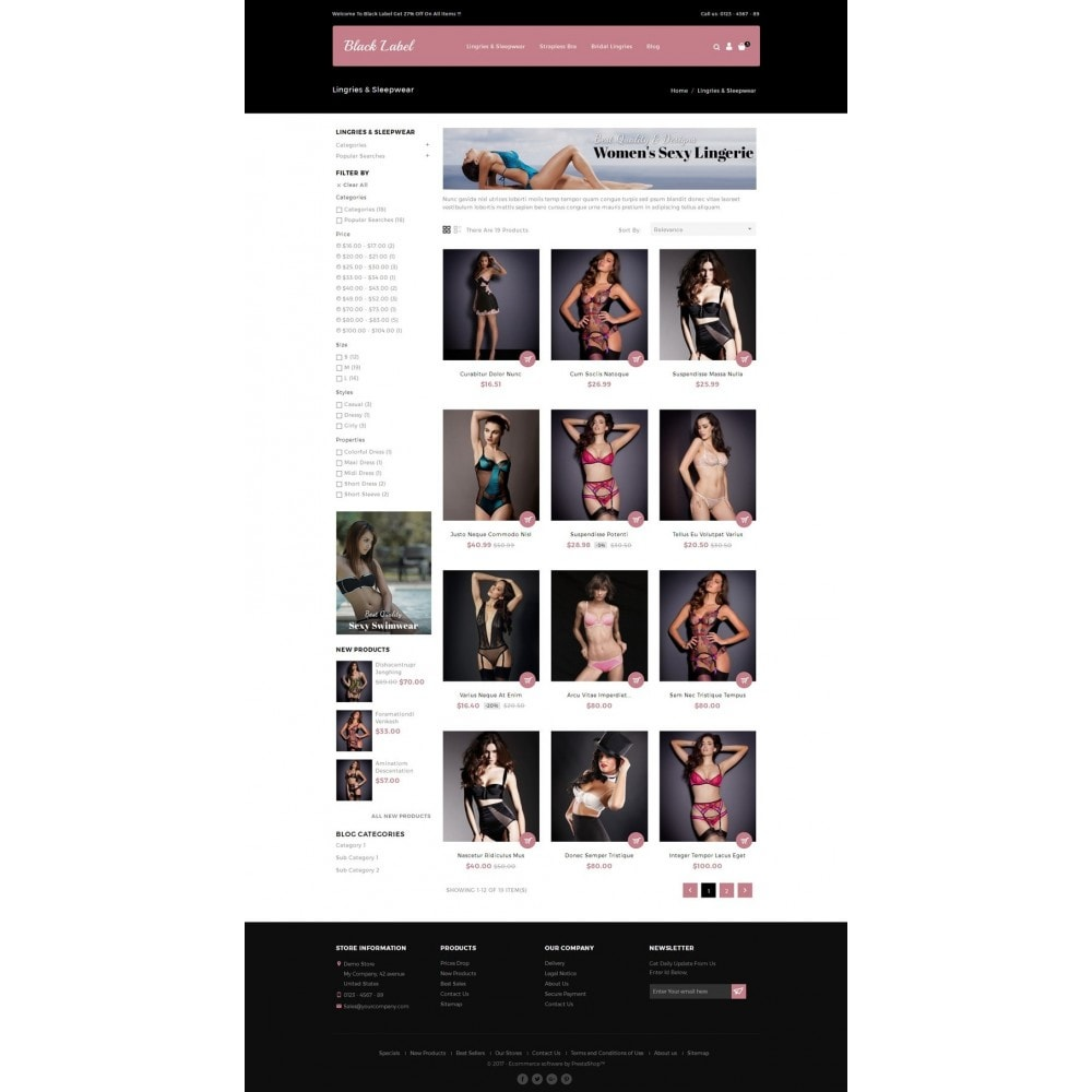 theme - Lingerie & Adultos - Black Label - Lingories Store - 3