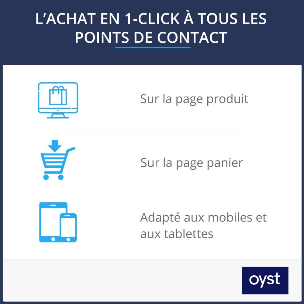 module - Processus rapide de commande - Oyst 1-Click - 2