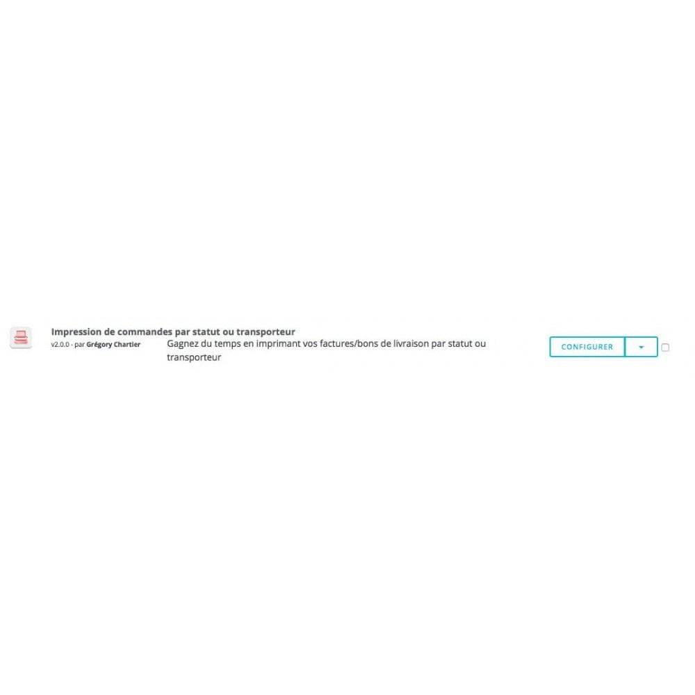 module - Préparation & Expédition - Impression de commandes par statut et transporteur - 4