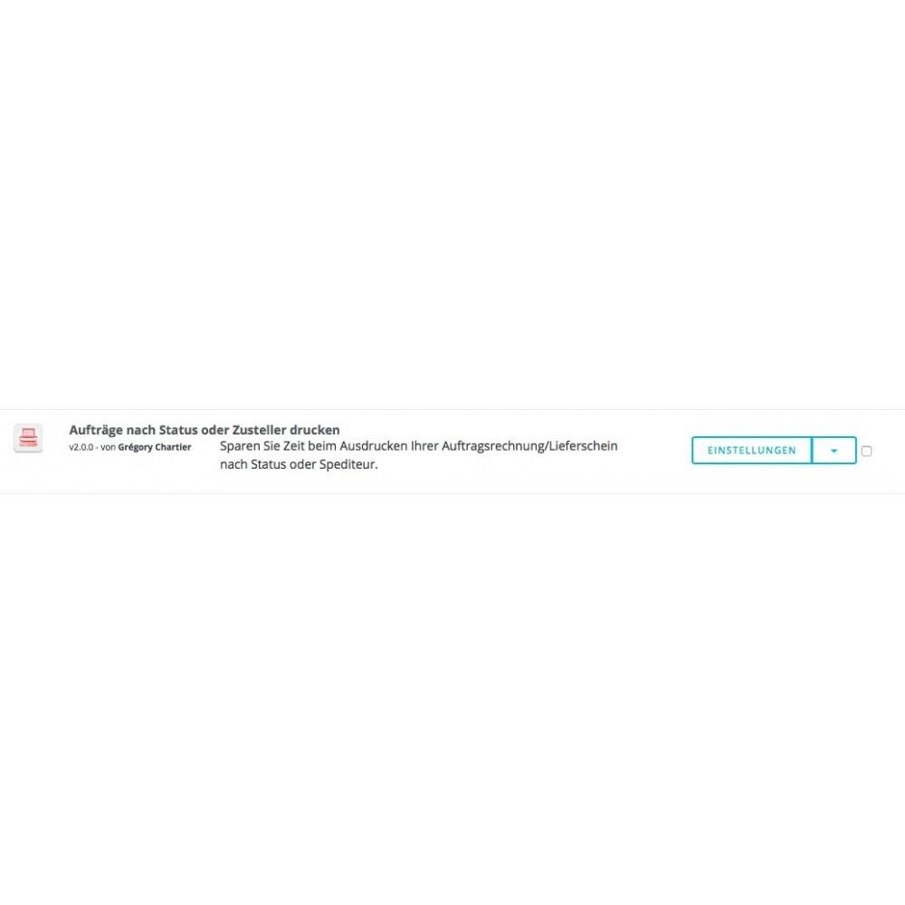 module - Kommissionierung & Versand - Aufträge nach Status und Spediteur drucken - 4