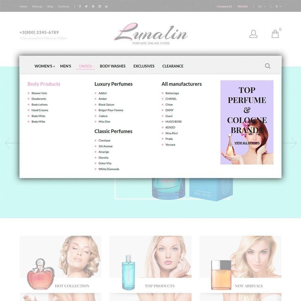 theme - Moda & Calzature - Lunalin - per Un Sito di Negozio Cosmetici - 4