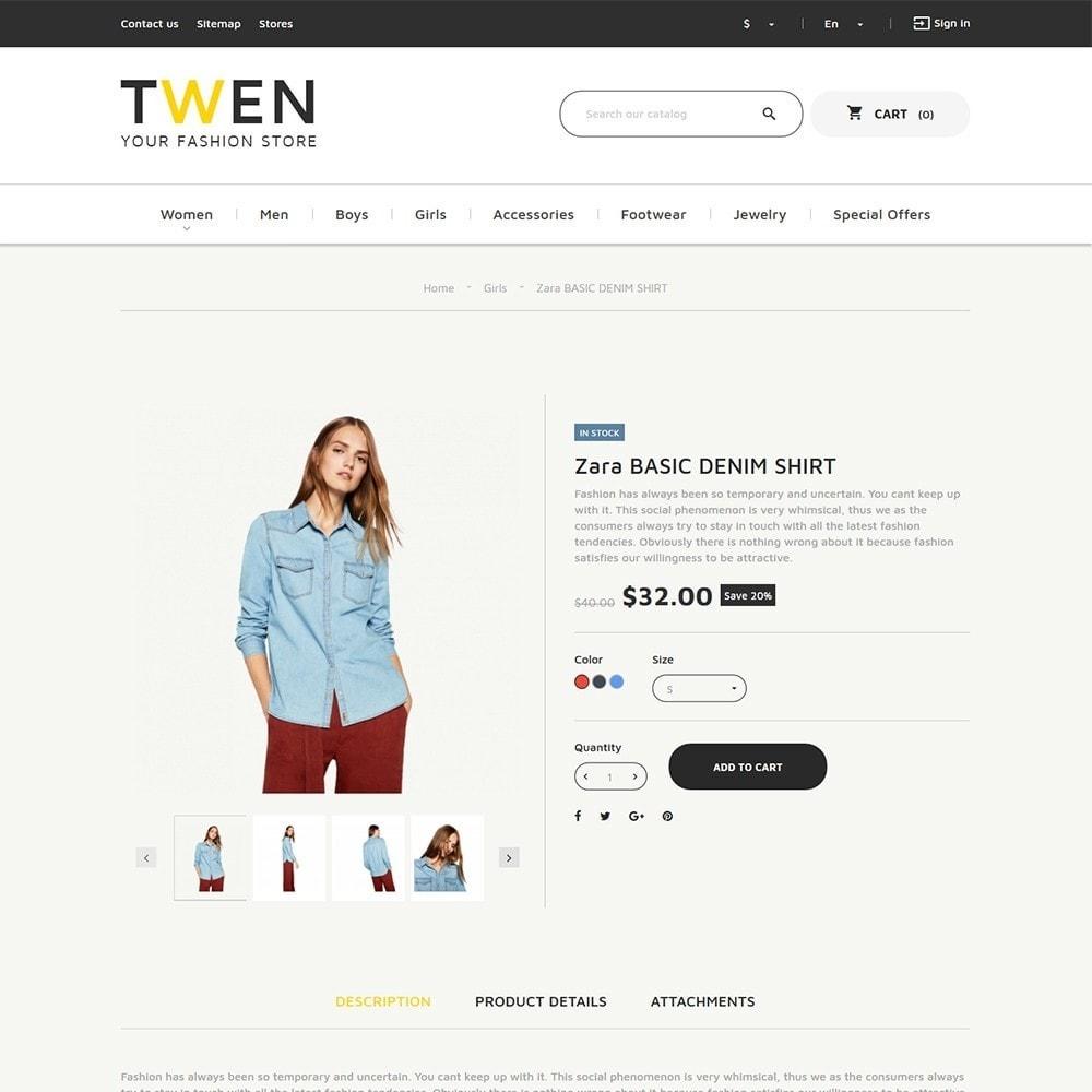theme - Moda & Calzature - Twen - Tema per Un Sito di Fashion Store - 4