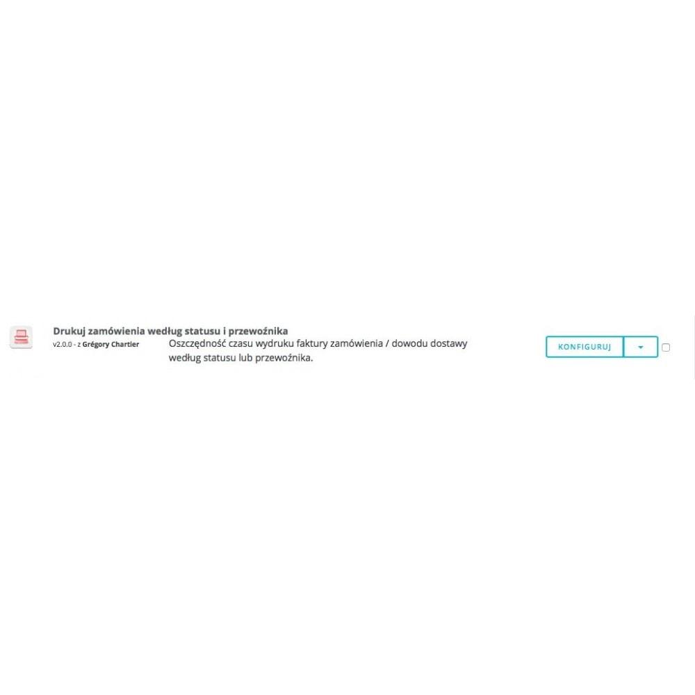 module - Przygotowanie & Wysyłka - Drukuj zamówienia według statusu i przewoźnika - 4