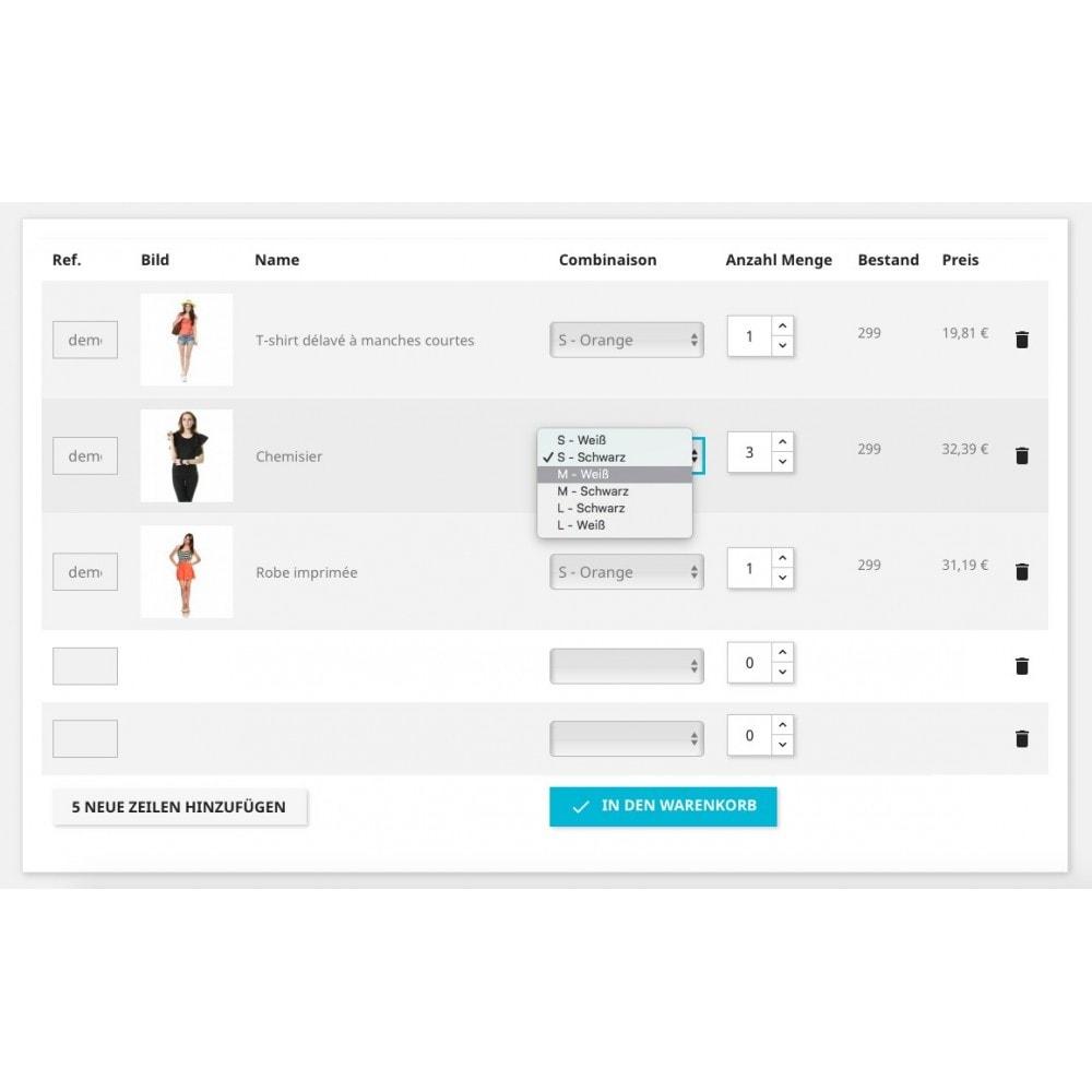 module - PrestaShop Module - Schnell-Bestellformular - 1
