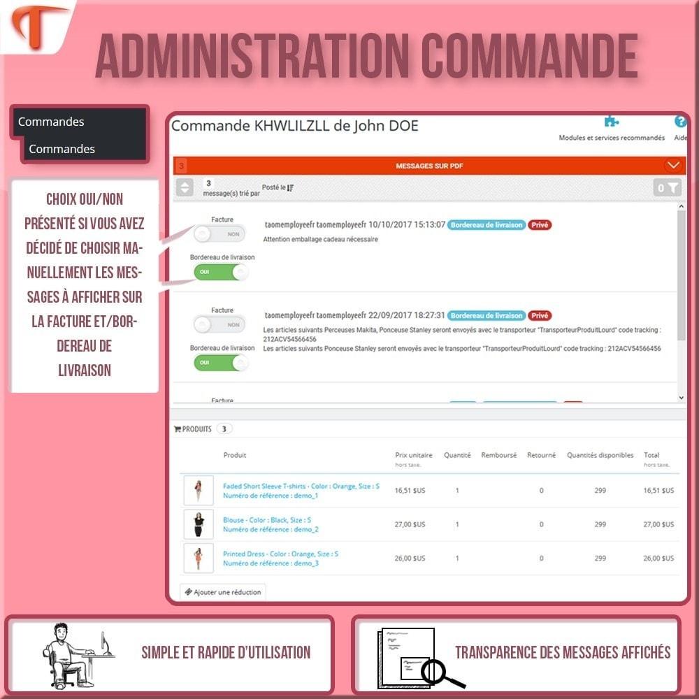 module - Comptabilité & Facturation - Afficher des messages sur vos Factures et/ou Bordereaux - 3