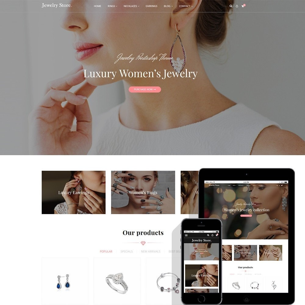 theme - Jewelry & Accessories - Jewelry Store - Premium PrestaShop Template - 1