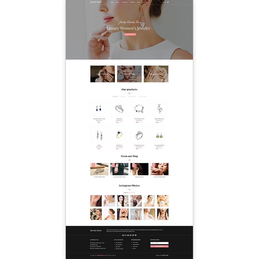 theme - Jewelry & Accessories - Jewelry Store - Premium PrestaShop Template - 2
