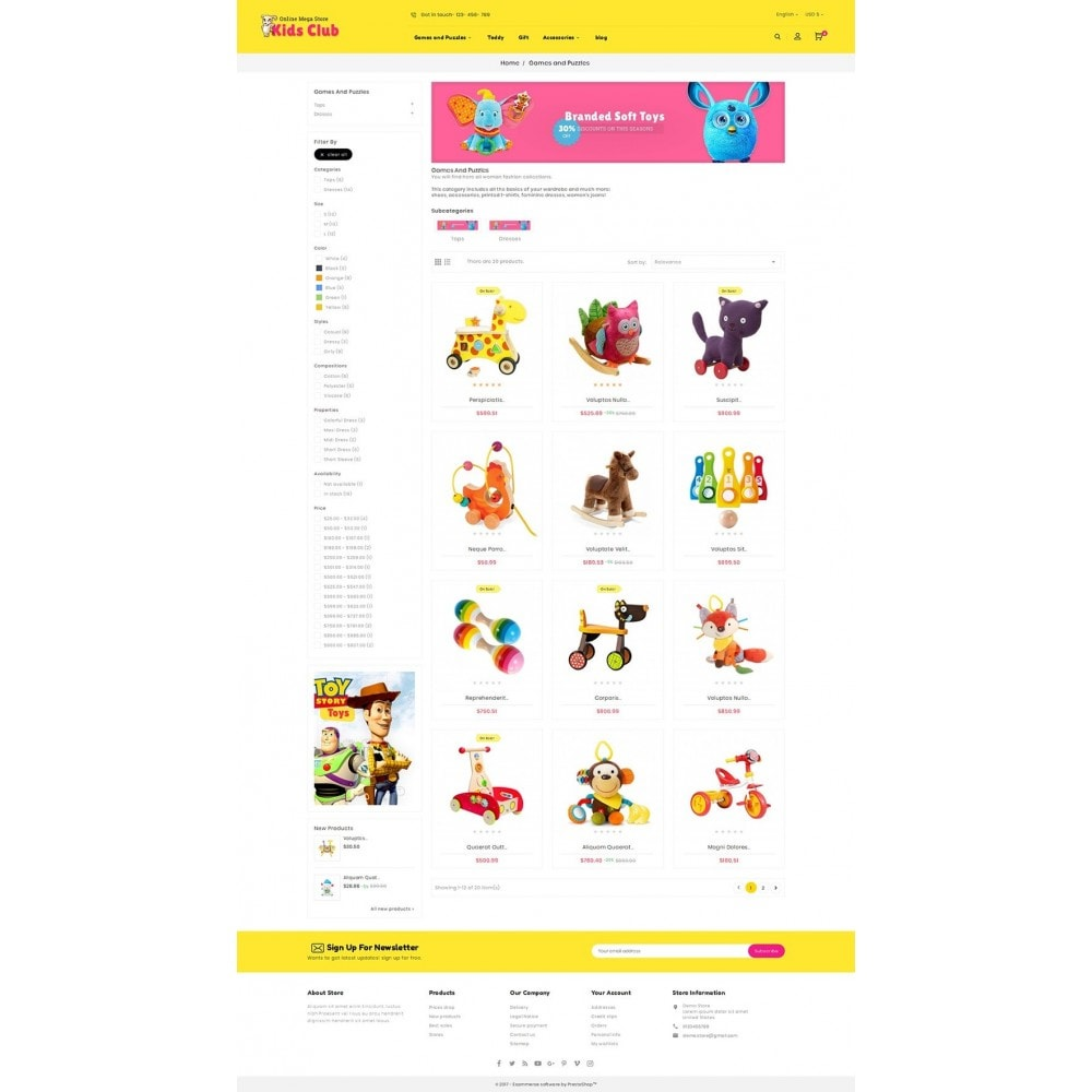 theme - Дети и Игрушки - Kids Toy Club - 3