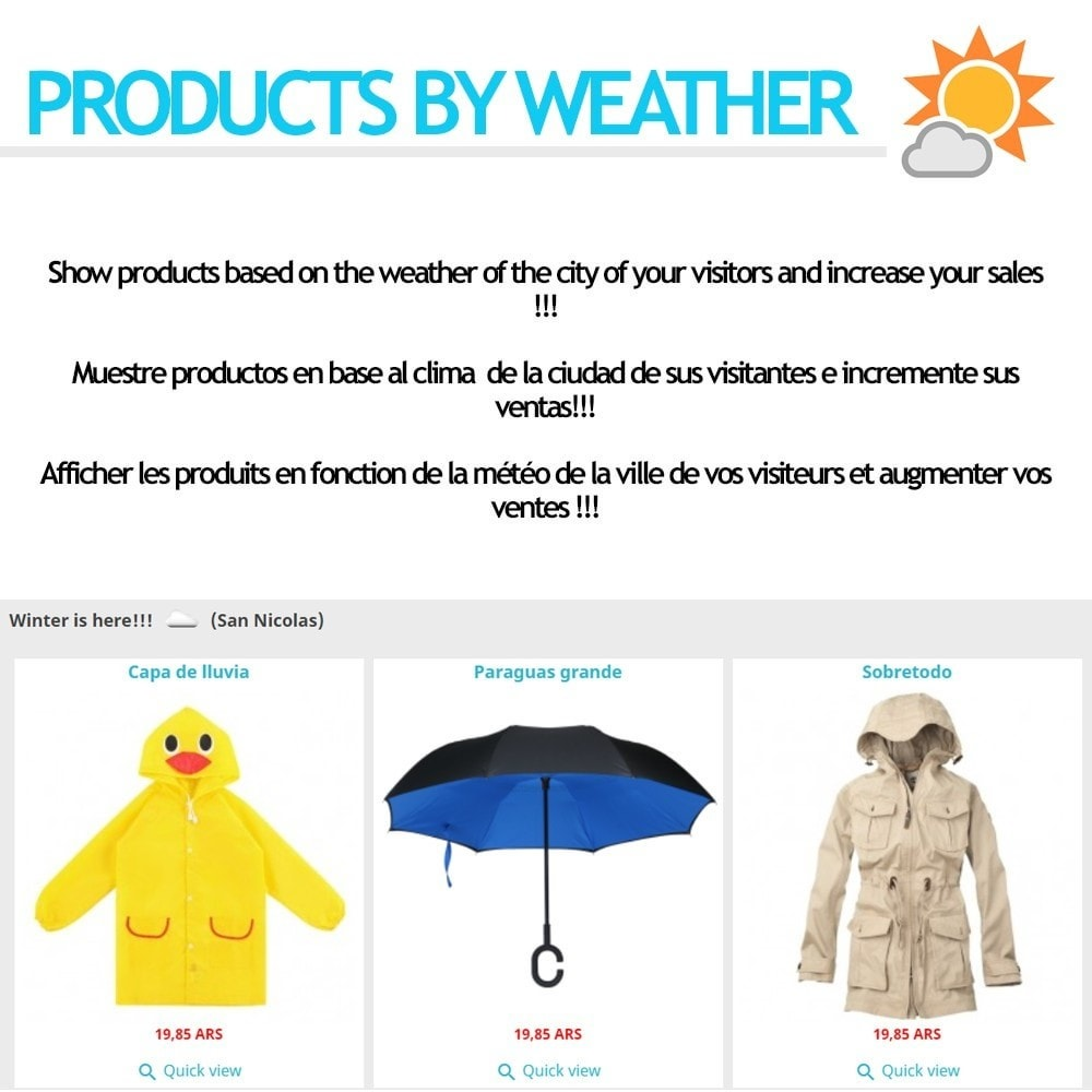 module - Personalización de la página - Products by weather - 1