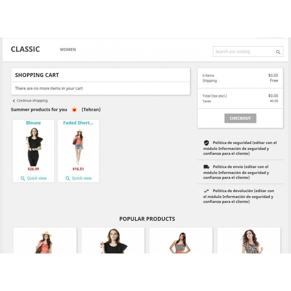 module - Personnalisation de Page - Products by weather - 3