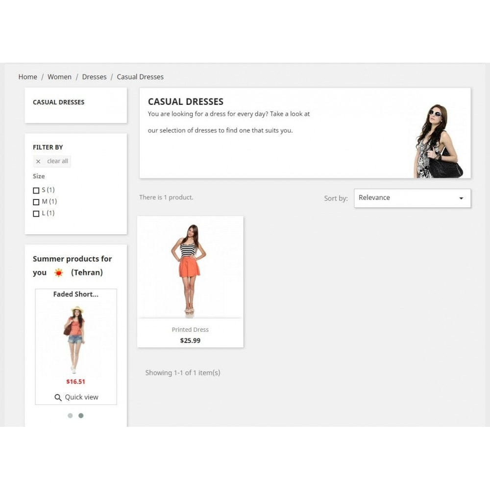 module - Personnalisation de Page - Products by weather - 4