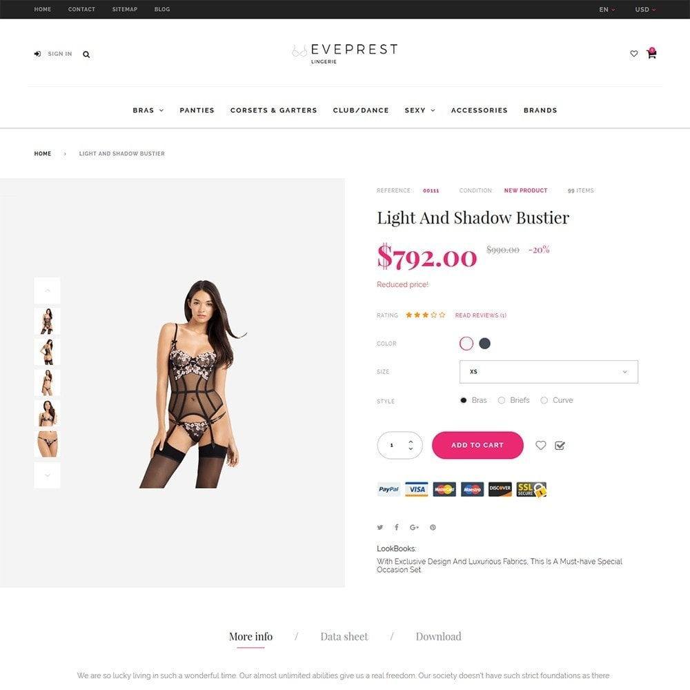 theme - Lingerie & Adult - EvePrest Lingerie - Lingerie Online Store - 4