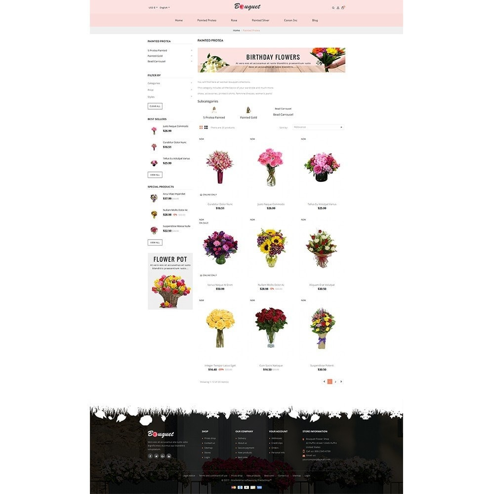 theme - Home & Garden - Bouquet Flower Shop - 3