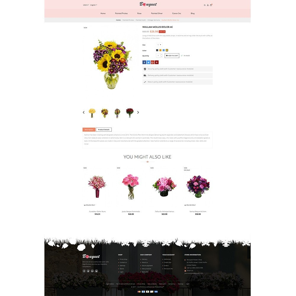 theme - Home & Garden - Bouquet Flower Shop - 5