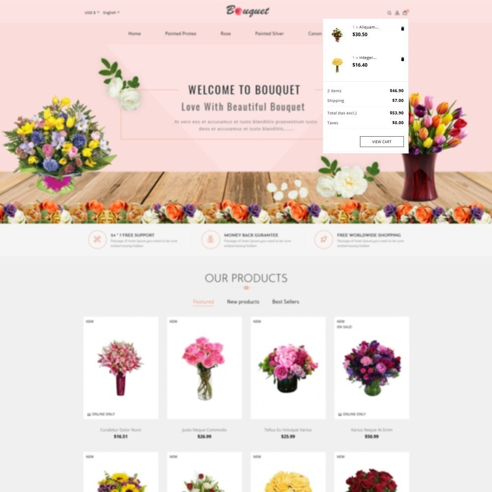theme - Home & Garden - Bouquet Flower Shop - 7