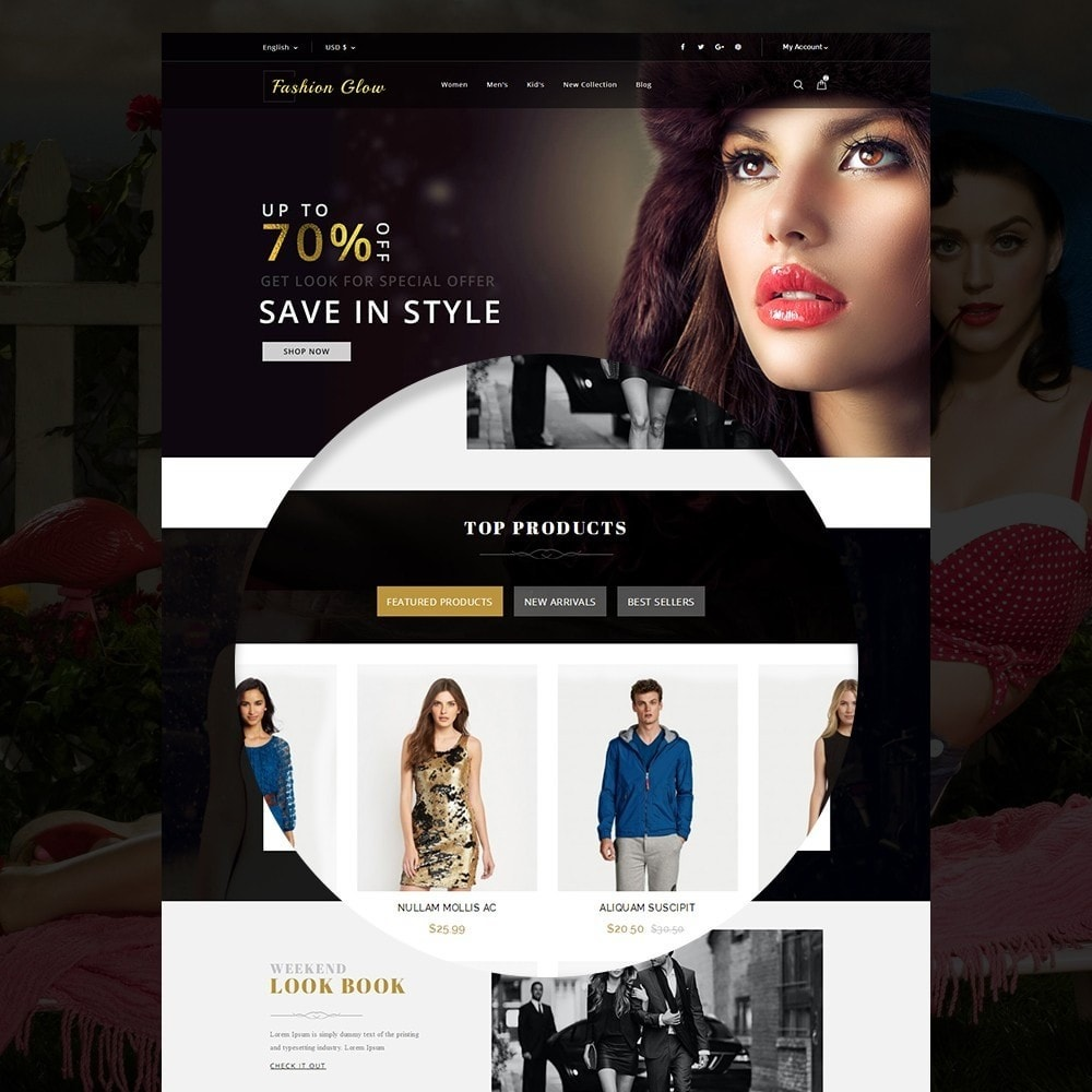 theme - Moda & Calzature - Fashion Glow Cloth Store - 8