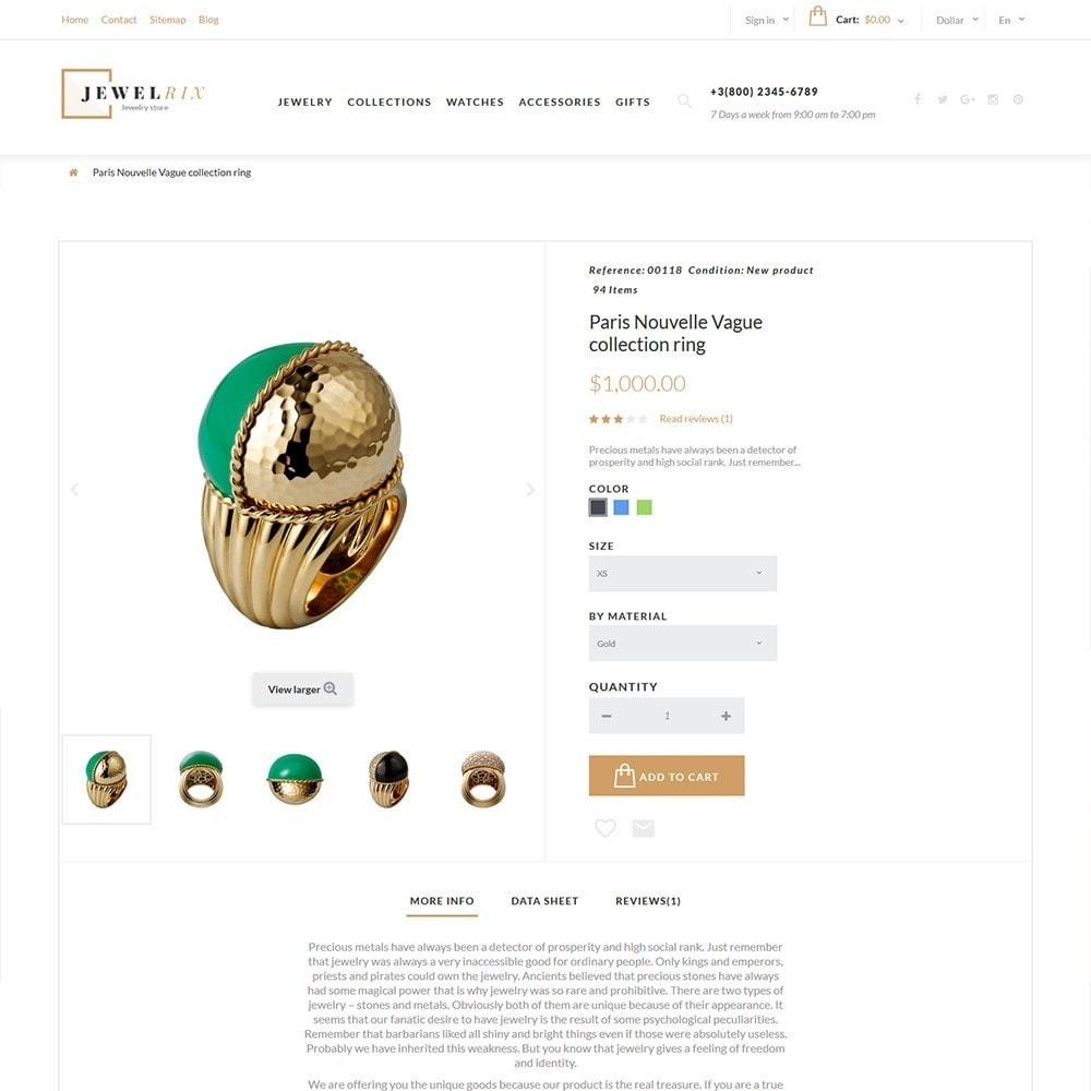 theme - Moda y Calzado - Jewelrix - para Sitio de Joyería - 4
