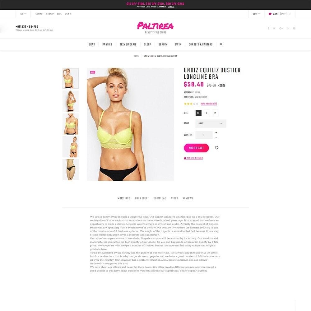Paltirea - magasin de lingerie thème