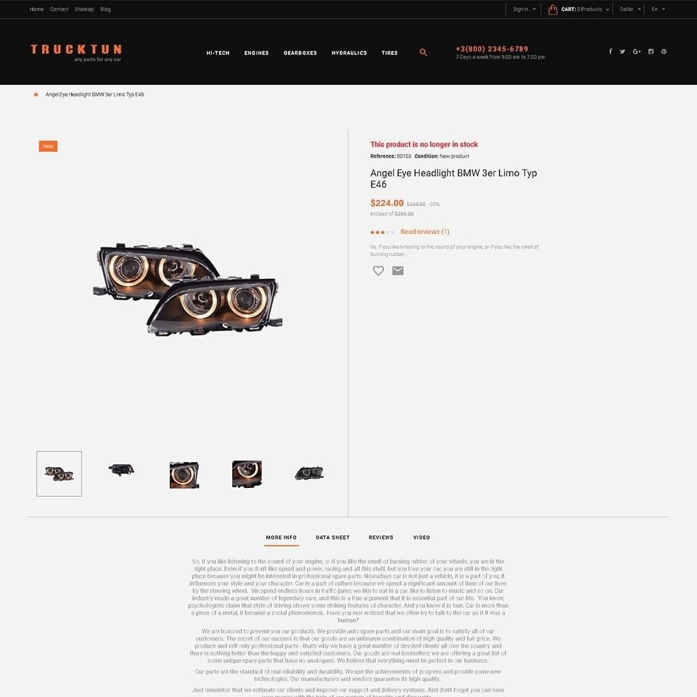 theme - Coches y Motos - Trucktun - para Sitio de Repuestos de coches - 3