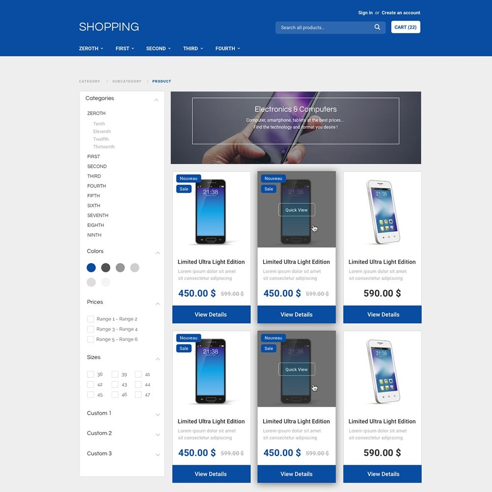 theme - Elektronik & High Tech - Shopping by PrestaShop - 2