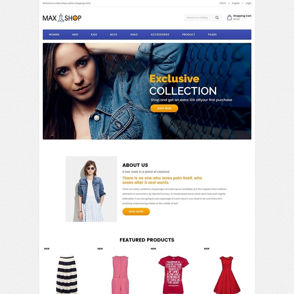 theme - Fashion & Shoes - Maxshop - Fashion Store - 2