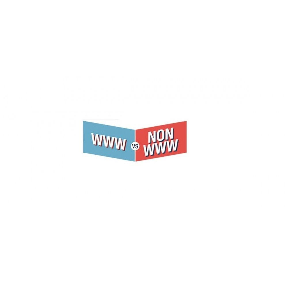 module - URL y Redirecciones - www and non www redirecter -  both  multistore - 3