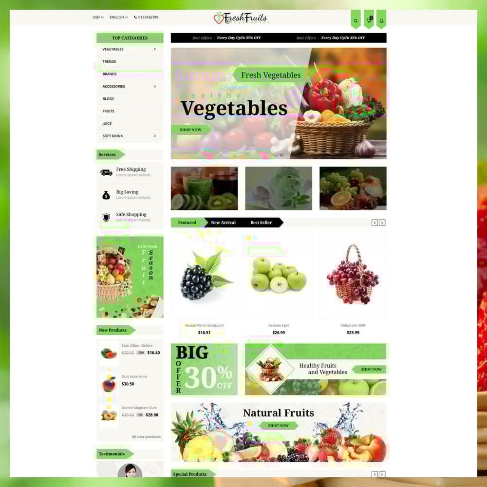 Fruits & Vegetables Shop