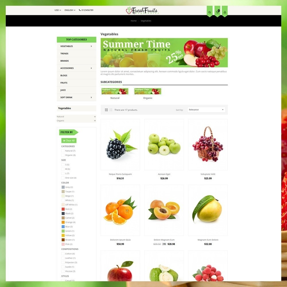 theme - Alimentation & Restauration - Fruits & Vegetables Shop - 4