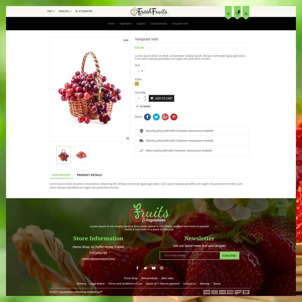 theme - Alimentation & Restauration - Fruits & Vegetables Shop - 6