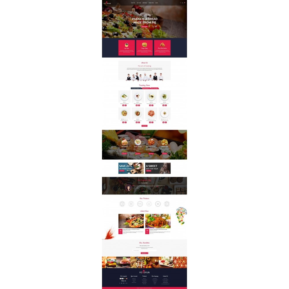theme - Продовольствие и рестораны - Foodyun - The Food Store - 2