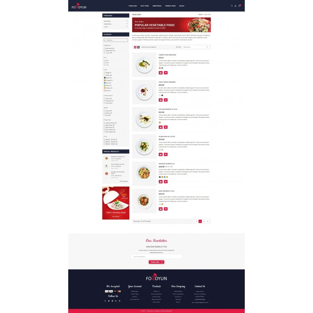 theme - Alimentation & Restauration - Foodyun - The Food Store - 4