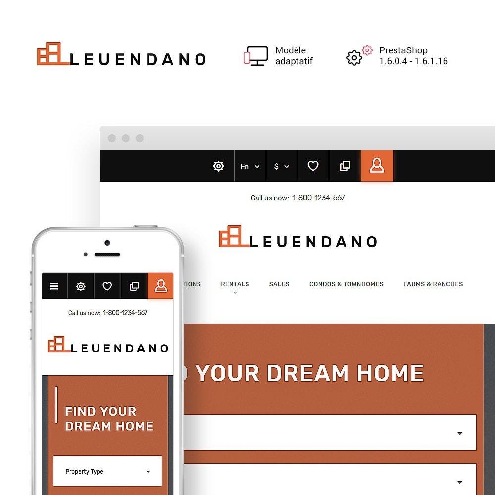 theme - Maison & Jardin - Leuendano - pour site d'agence immobilière - 1