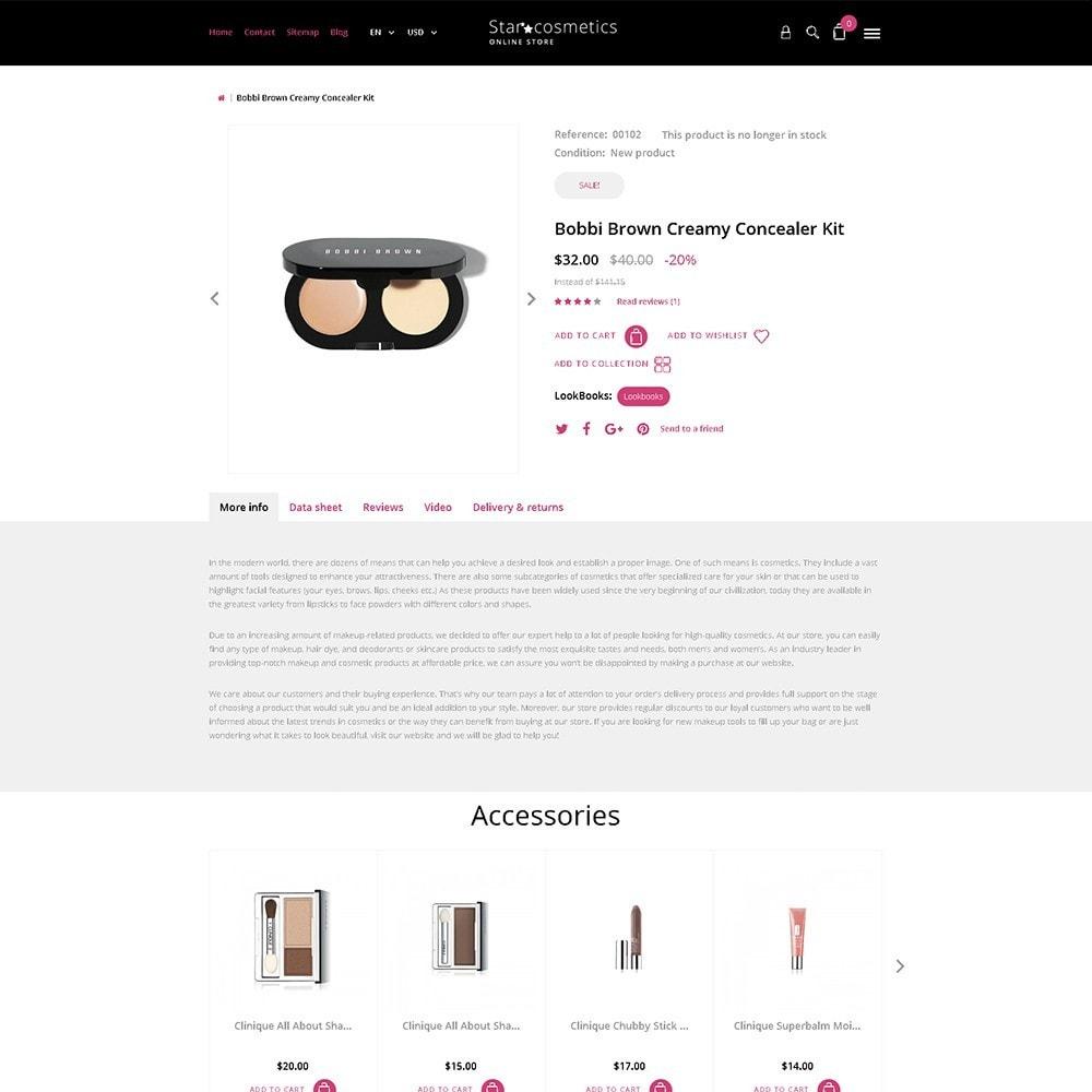theme - Мода и обувь - Star Cosmetics - шаблон магазина косметики - 6