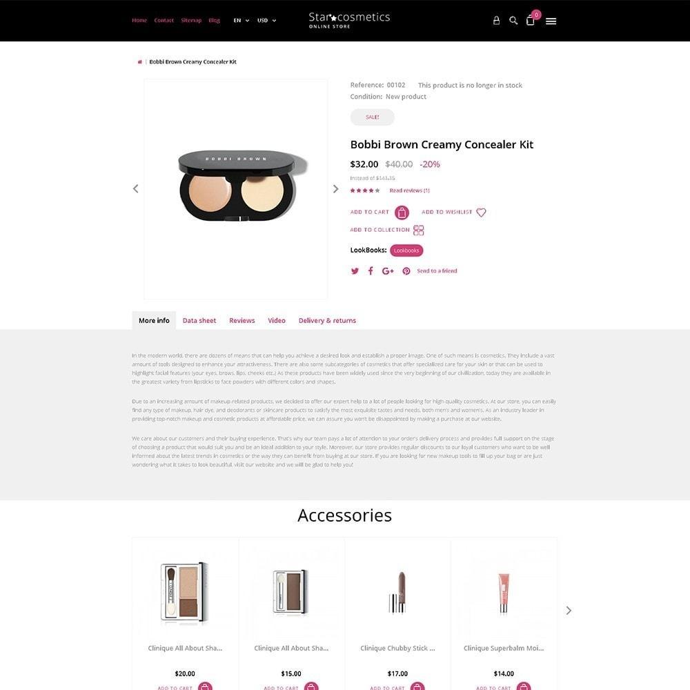 theme - Moda y Calzado - Star Cosmetics - para Sitio de Tienda de Cosméticos - 6